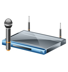 wireless microphone vector image