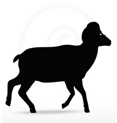 big horn sheep silhouette in walking pose vector image