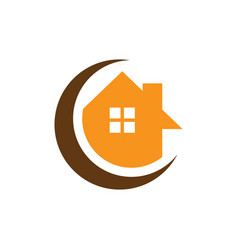 circle home business logo vector image vector image