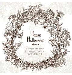 Halloween decorative wreath - frame for an vector image vector image