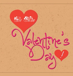 Valentine greetings with typography vector image vector image