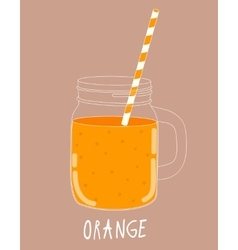 Fresh Orange Smoothie Healthy Food vector image vector image