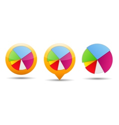 Pie Chart Icons vector image