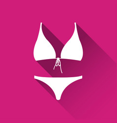 simple female swimsuit icon bikini symbol vector image vector image