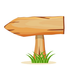 wooden panel in grass isolated icon vector image