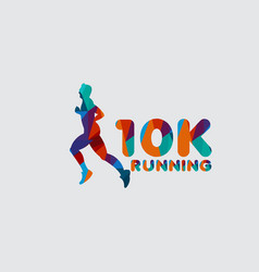 10k running template design vector image