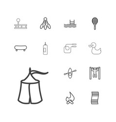 13 activity icons vector