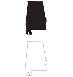 Alabama al state map usa vector