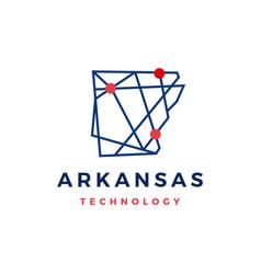 arkansas technology tech geometric polygonal map vector image