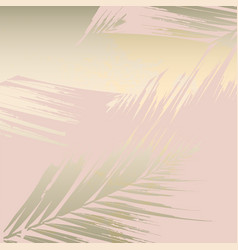 autumn foliage rose gold blush background vector image