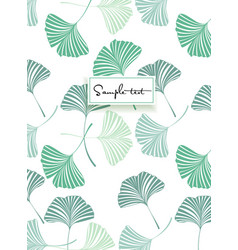 background with ginkgo biloba leaves vector image