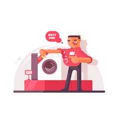 big shop seller vector image