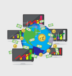 bitcoin growth concept payment and trade vector image