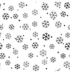 black snowflake icon isolated seamless pattern on vector image