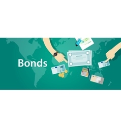 Bonds company corporate funds financing vector