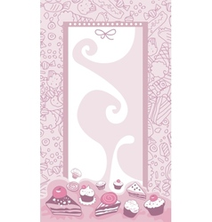 Cakes Background vector image