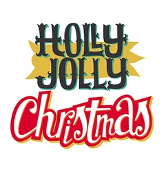Christmas card Hand lettering Decorative pattern vector image