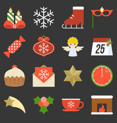 Christmas icon ornaments and decoration vector