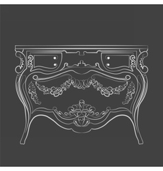 Classic vintage commode furniture vector