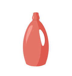 Cleaning agent red plastic bottle vector