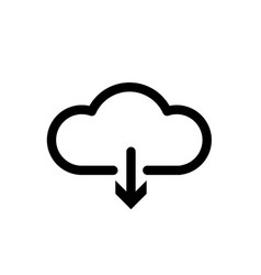 cloud download one of a set of linear web icons vector image