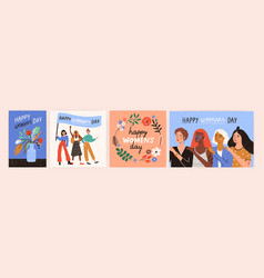 collection of greeting card or postcard templates vector image