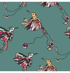 Colored fantasy tropical bird vector image