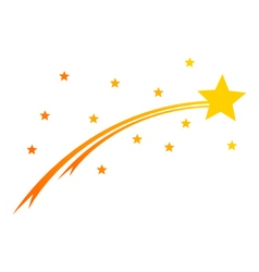 Comet and stars on white vector