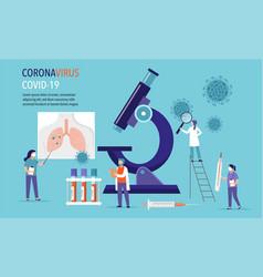 Coronavirus 2019-ncov scene - research and vector