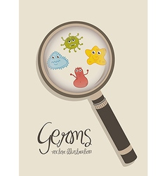 Cute germs over beige background vector