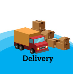 delivery truck and box background image vector image