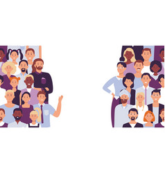 divided people crowd divide group vector image