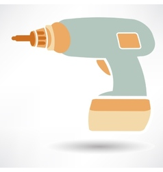 Drill icon vector image