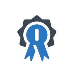 first place badge icon vector image