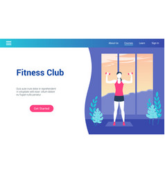 Fitness club lp template vector