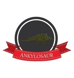 flat icon dinosaur ankylosaur vector image