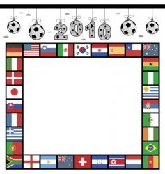 Football flag frame vector