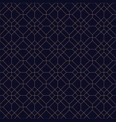 Geometric seamless blue ornamental background vector