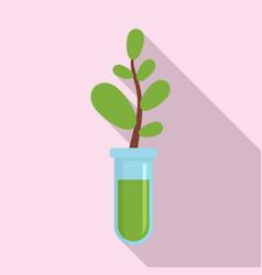 Gmo plant tube icon flat style vector