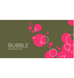 Green background with bubbles abstract red vector