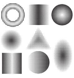 halftones vector image