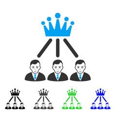 happy hierarchy men icon vector image