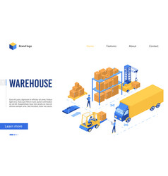 isometric delivery logistic service vector image