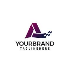 letter a pixel logo design concept template vector image