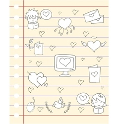 Love theme paper design vector
