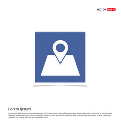 Map location icon - blue photo frame vector