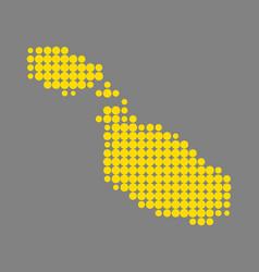 Map of malta vector