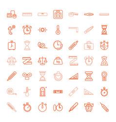 measurement icons vector image