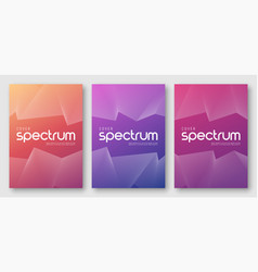 minimalist abstract gradient cover designs vector image