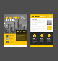 Modern business corporate brochure flyer design vector